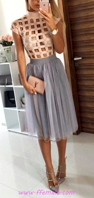 Summer Outfits Graceful and pretty look - gray, model, posing, heels, elegant, style, handbag