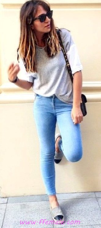Top adorable and pretty outfit idea - denim, model, woman, sunglasses, blue, handbag