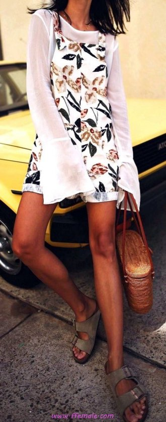 Top attractive and wonderful inspiration idea - fashion, bellsleeves, floral, sandals