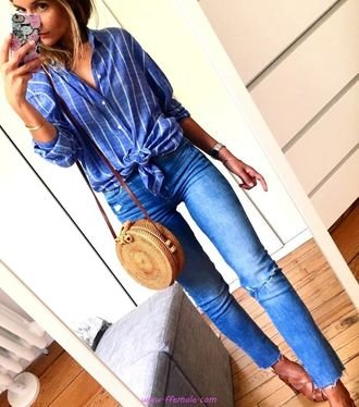 Top awesome and relaxed look - ideas , denim