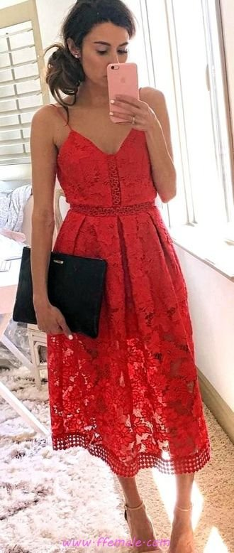 Top classic and lovely outfit idea - fashion, red