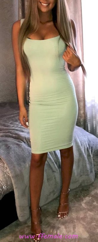 Top classic and wonderful look - party, dress, model, girl, heels, happy, green, bodycon