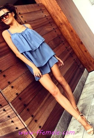 Top comfortable and hot wardrobe - flashy, fashionable, attractive, wearing