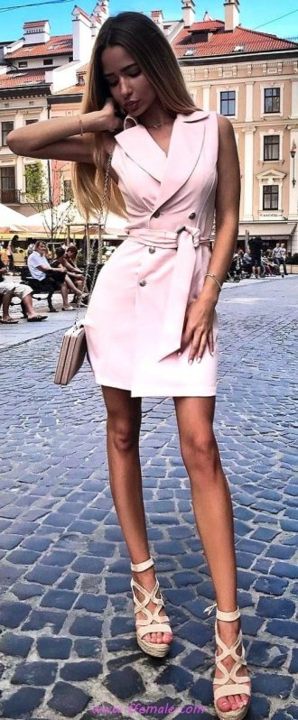 Top elegant and wonderful outfit idea - vneck, model, photoshoot, fashionmodel, posing, heels, pink, bodycon
