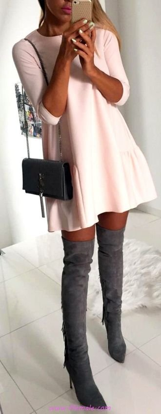 Top fashionable and top look - fashion, rose, overknee