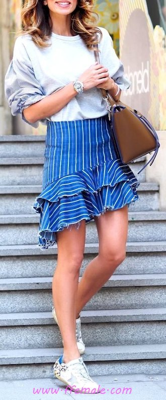Top graceful and hot wardrobe - sundress, woman, lifestyle, outerwear, blue, handbag