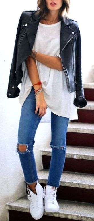 Trendy & Graceful Wardrobe - getthelook, model, jacket, leather, charming, thecollection