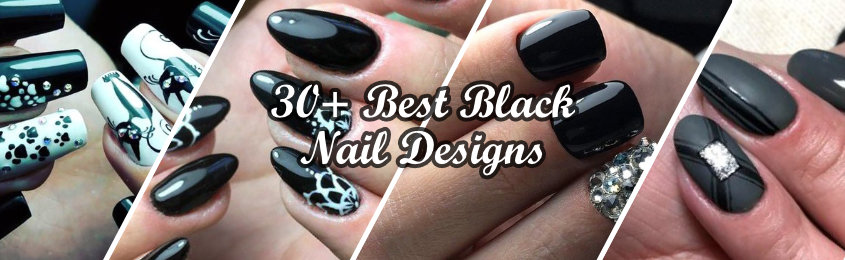 + Best Black Nail Designs