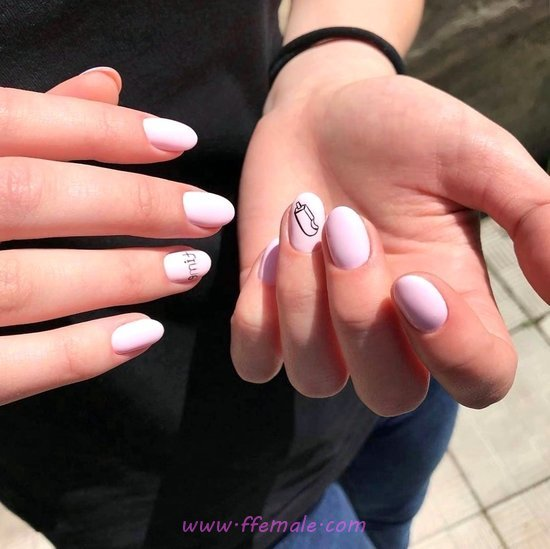 Adorable Lovable Gel Nails Art - diy, nail, naildesign, gelnails