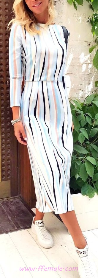 Attractive And So Trendy Sunny Day Wardrobe - graceful, posing, women