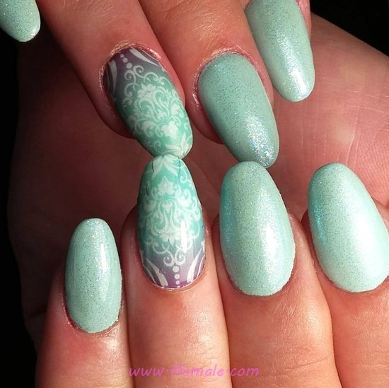 Attractive And Top Acrylic Nail Art Design - nailart, inspiration, sweet, diy