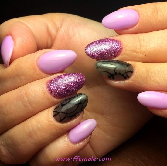 Balanced And Trendy Acrylic Nail Art Ideas - star, furnished, nail