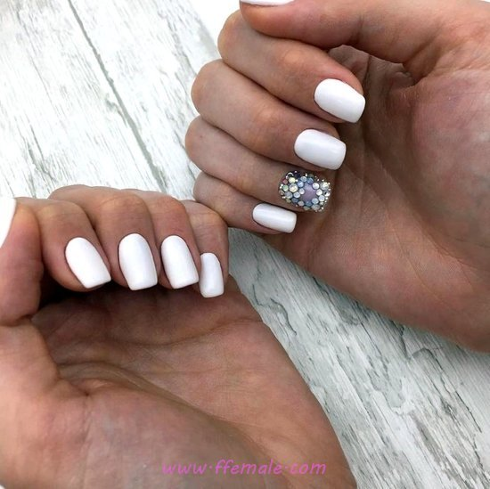 Birthday & Sexy French Manicure - nail, star, getnailsdone, trendy