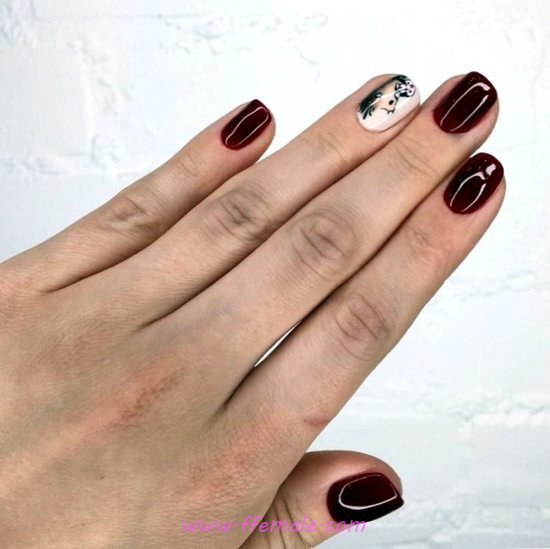 Casual And Loveable Gel Manicure Idea - hollywood, clever, nailideas, nail