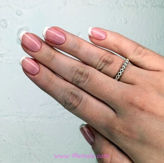 Casual & Handy French Gel Nail Trend - sweetie, creative, nailart