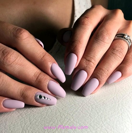 Ceremonial Perfect Acrylic Nails Trend - beautiful, simple, cute, nails