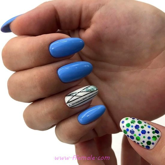 Charming And Super American Gel Nail Art Design - nails, nailidea, nice, idea