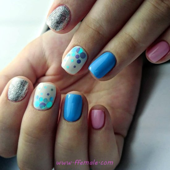 Charming & Neat Manicure Design - cutie, party, sweet, nailidea, nail