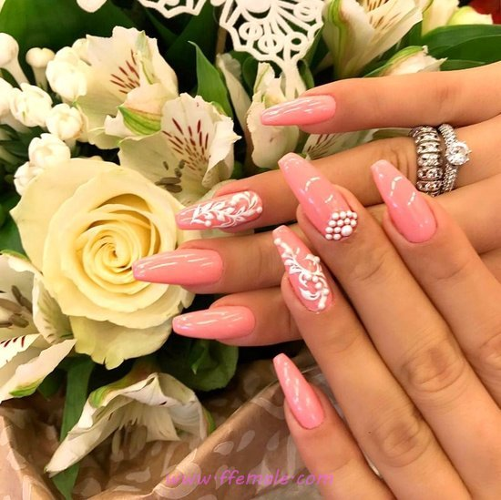 Charming & Wonderful Acrylic Nail Ideas - gelpolish, fashion, diynailart, nail