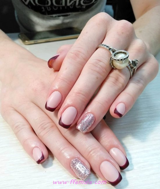 Chic And Lovely Gel Manicure Art - gel, classic, nailswag, nailart