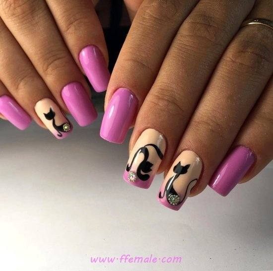 Classic & Neat Gel Nail Design Ideas - nails, naildesigns, weekend, diy