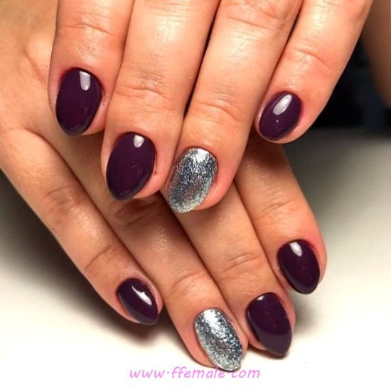 Classic Sexy Gel Nail Art Ideas - naildesigns, nails, artful, simple
