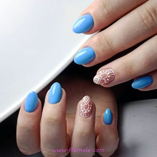 Classic Stately Gel Nails - nail, nailidea, enchanting, gelnails