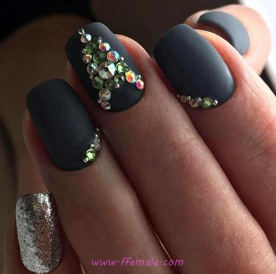 Colorful And Inspirational Gel Nails Art - lovable, royal, nail, cool, hilarious