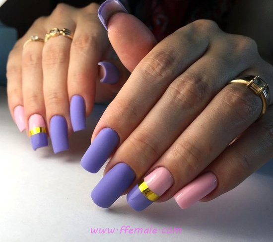 Colorful And Simple French Acrylic Nail - star, lovable, nail, beautyhacks