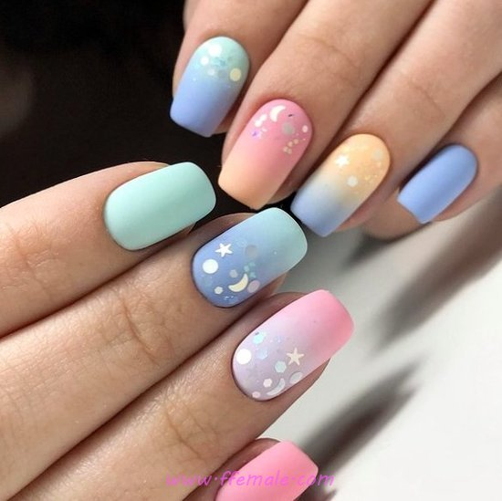 Colorful And Unique French Acrylic Manicure Idea - fashion, diynailart, nail, diy, top