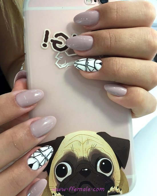 Cool And Lovely Gel Nails Art Design - nail, inspirationidea, goingout