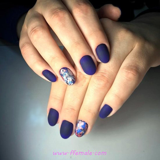 Cool & Super Acrylic Nails Art Ideas - royal, nailidea, nails, top, cunning