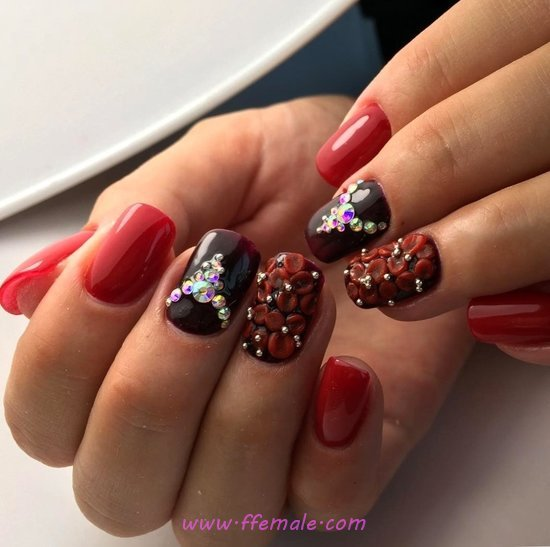 Cute Top Acrylic Nail Art Design - diynailart, nailart, star, selection