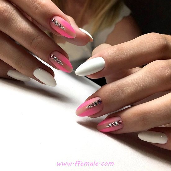 Cutie Pretty Gel Nails Style - glamour, trendy, nails, idea