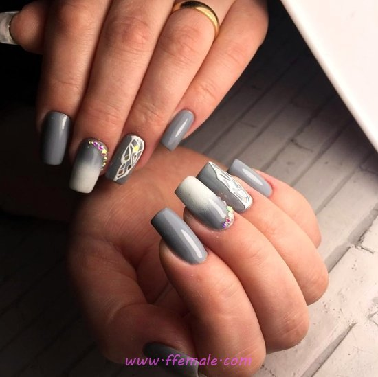 Dainty & Simple American Manicure Ideas - awesome, nailart, precious