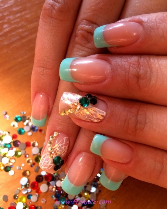 Delightful And Nice Gel Nails Art - nail, ravishing, beautytips, gel