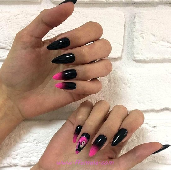 Delightful Nice French Acrylic Manicure Design - diynailart, nails, cute, style, smart
