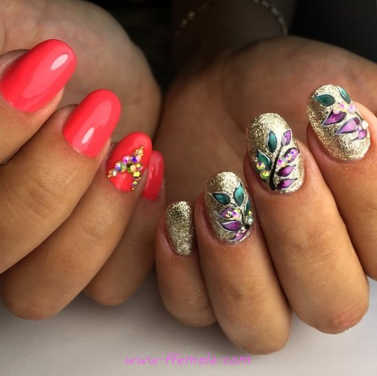 Dream Wonderful Gel Nails Art Design - nailtutorial, diy, nails, hollywood