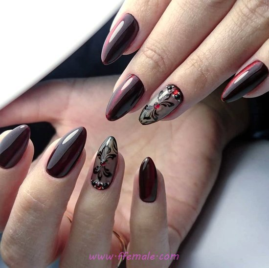 Dreamy And Gorgeous Gel Nails Design Ideas - nail, naildesign, diy, gel, top