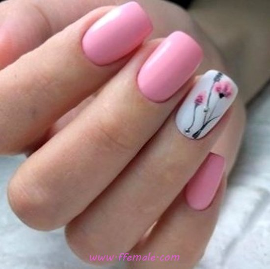 Easy And Classic Acrylic Nails Art Design - elegant, nice, nailart, nailideas