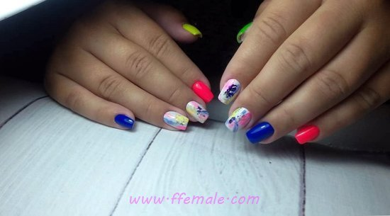 Easy & Cool Manicure Trend - glamour, nailart, nailstyle, idea