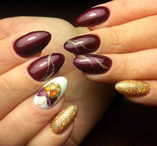 Elegant Stately Art - love, cool, diynailart, nails, teen