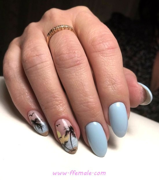 Enchanting And Loveable Gel Manicure Design - artful, nails, trendy, graceful