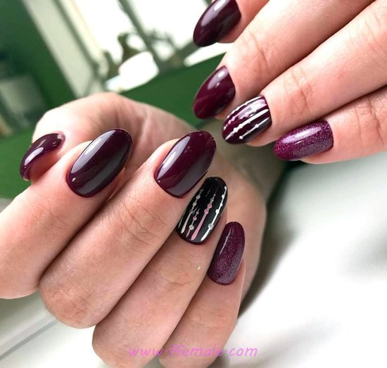Feminine And Easy Design - cunning, trendy, nails, nailstyle