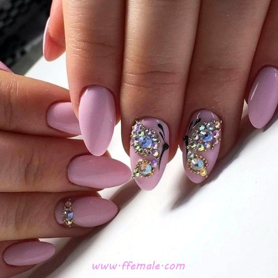 Feminine & Inspirational Gel Manicure Design - top, nailidea, nail, inspirationidea