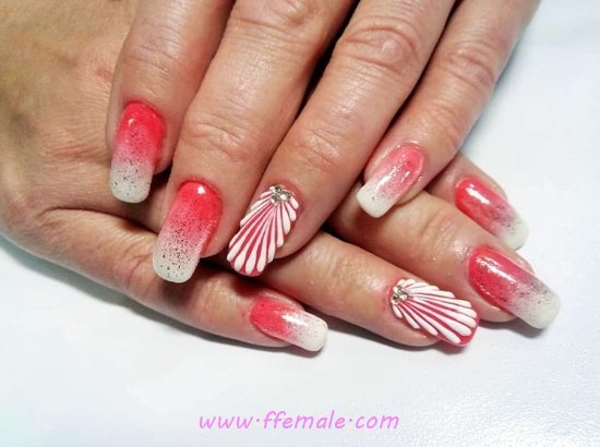 Girly And Hot French Gel Nail Trend - party, nailideas, nails, best