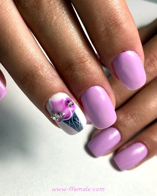 Girly And Orderly Manicure Idea - nails, fashion, sexy, cool, acrylic