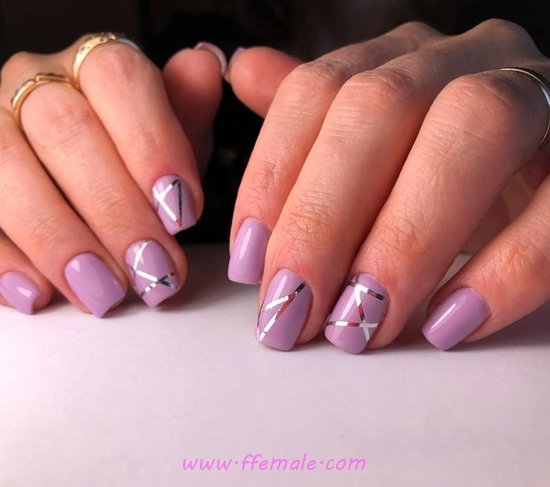 Glamour And Feminine Gel Nail Trend - smart, nails, nailartideas, clever