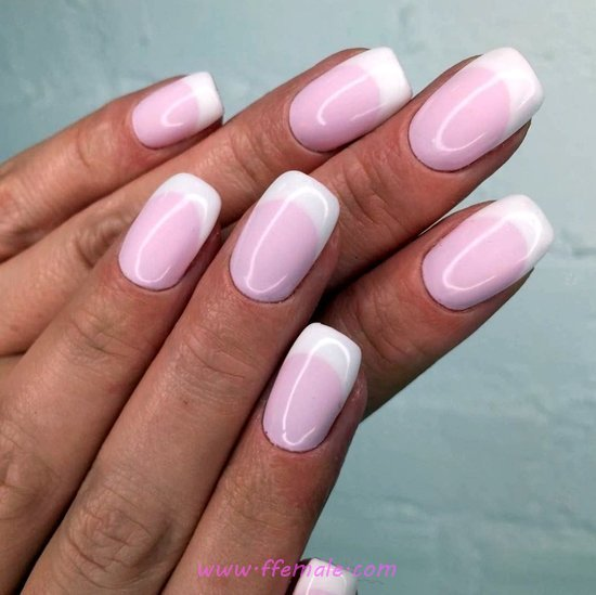 Glamour & Creative French Manicure Idea - attractive, neat, fashion, nails