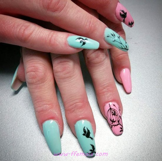 Gorgeous And Cool French Nails Trend - hollywood, nailart, nailswag